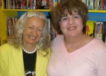 Web Hostess Toni Collins with Noel Neill