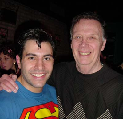 Bob Holiday with Rob Ventre playing Superman