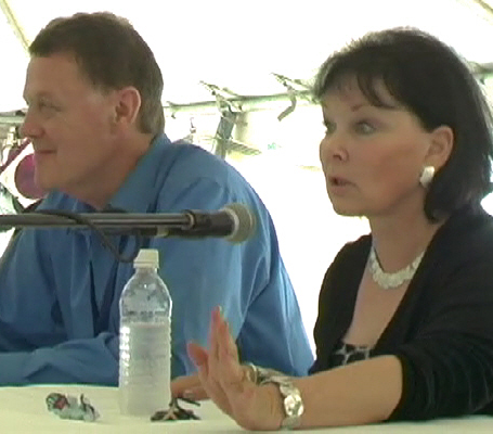 Bob Holiday with Yvonne Craig (Batgirl)